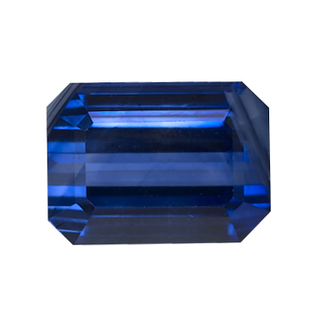 Blue Emerald Cut