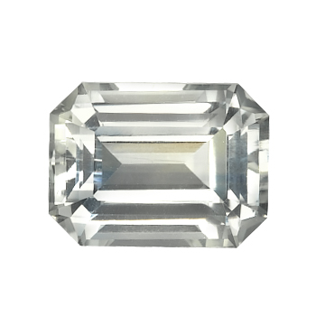 White Emerald Cut